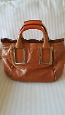 "CHLOE WHISKEY COLORED LEATHER "" ETHEL ""  SATCHEL CROSSBODY FURTHER REDUCED"