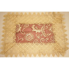 2pc Lace Embroidery Table Doilies Placemat Vintage