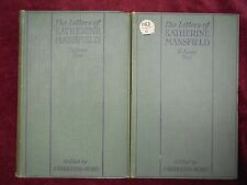 LETTERS of KATHERINE MANSFIELD by J.MIDDLETON MURRY/2 BOOKS/1928