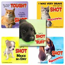 Dog and Cat Stickers - Patient Stickers - Vets Doctors Nurses Stickers Flu Shot