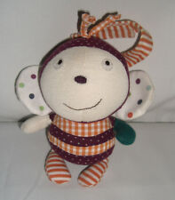 MAMAS AND PAPAS BUSY BEE SOFT RATTLE TOY CHIME COMFORTER DOUDOU SCRAPBOOK GIRL