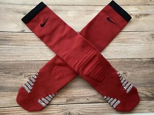 New Nike Mens Grip Socks XL Xlarge Red/Gray