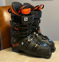2019 Salomon X Pro 120 Ski boots 27.5 with Sidas Winter Feet Mid Arch insoles
