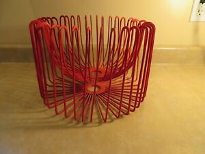 Ehlén Johansson Modern Red Wire Metal Fruit Bowl Basket/ Lamp Shade