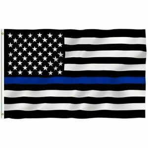 Best 3'x5' FLAG Thin Blue Line Police Lives Matter Law Enforcement American USA