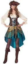 Ladies Pirate Princess Captain Caribbean Halloween Fancy Dress Costume Outfit