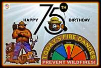 Smokey Bear 75th Birthday Limited Edition Bookmark Set Only 1,250 Sets Made