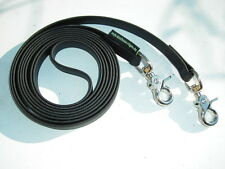 MJH Beta BioThane Zügel Pony 16mm breit 2,70m lang u. Messing Snapkarabiner