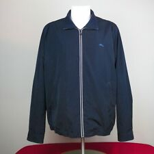 Tommy Bahama Black Windbreaker Mens Jacket XL Fish Logo