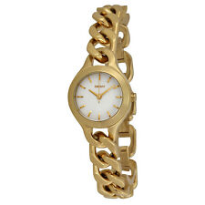 DKNY Chambers White Pearlized Dial Gold-tone Ladies Watch NY2213