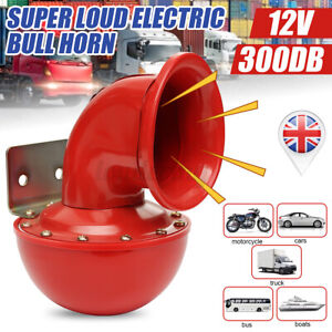 Red 300db 12V Super Loud Electric Single Trumpet Air Horn Truck Lorry Boa