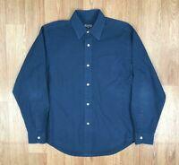 Vintage RALPH LAUREN Mens Long Sleeve Shirt   POLO JEANS CO   Medium M Navy Blue