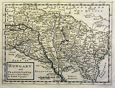 Antique map, Hungary and Transilvania