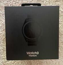 Samsung Galaxy Watch3 Titanium 45mm Black Case Black Smart Watch - SMR840NTKAXAR