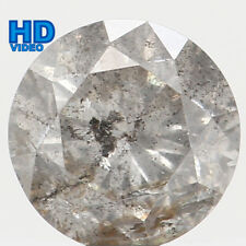 Natural Loose Diamond Black Grey Color Round I1 Clarity 5.40 MM 0.70 Ct L5021