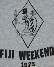 70s Vintage Fiji Weekend 1975 Tribal Rayon Blend Ringer T Shirt