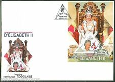 TOGO  2013 60th  ANNIVERSARY OF THE  CORONATION QUEEN ELIZABETH  II S/S  FDC