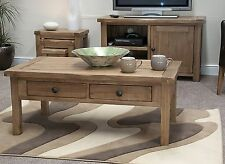 Brooklyn solid oak living room lounge furniture coffee table