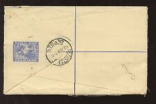 SOUTH AFRICA REGISTERED STATIONERY 1934 + 2d + SHIP 1d DURBAN to PARIS