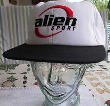 ALIEN CAP Kappe Sonnenschutz , weiss mit Logo NEU! und TOP! verstellbar! unisex