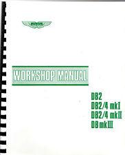 ASTON MARTIN DB2 DB2/4 DB MARK III WORKSHOP MANUAL
