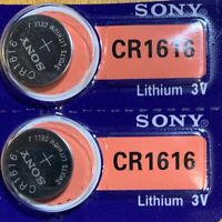 2-Sony 1616 CR1616 BR1616 ECR1616 5021LC Lithium 2 Batteries Exp 2029