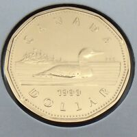 1990 Canada 1 One Dollar Loonie Canadian Brilliant Uncirculated BU Coin G529