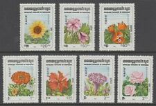 KAMPUCHEA 1983 FLOWERS MINT SET (x7) (ID:760/D55180)