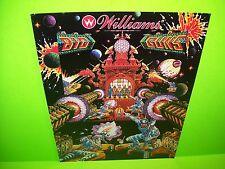 Williams BIG GUNS Original 1987 Flipper Game Pinball Machine Promo Sales Flyer