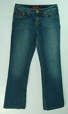 GOLD TAG Stitched Jeweled Cat Logo LOW Boot Cut BABY PHAT Stretch Jeans! 5 Short