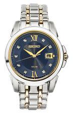 Brand New Seiko SNE428 Le Grand Solar Two Tone Stainless Diamond Men's Watch