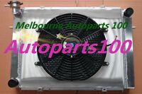 For HOLDEN COMMODORE RADIATOR & Shroud & Fan V8 VG VL VN VP VR VS 3 ROW Alloy