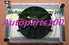 3 ROW HOLDEN COMMODORE V8 VG VL VN VP VR VS ALUMINUM MT RADIATOR & Shroud & Fan