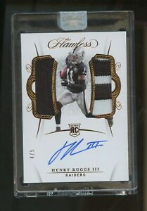 2020 Panini Flawless Henry Ruggs III RPA RC Rookie Jersey Patch AUTO 4/6