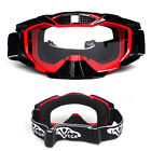 Motorcross Goggles Clear Lens for Fox V1 V3 ATV Offroad Motocross Racing Helmet