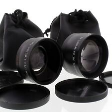 WIDE Angle 0.45x + Macro + 2X TELE LENS Kit FOR Sony DSC-H10 H5 H1 VCL-DH0758