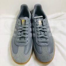 New Mens Adidas Samba OG FT Three Gray Gold Metallic Shoes BD7963 Size 9.5