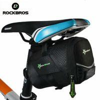 ROCKBROS Bicycle Rear Bag Cycling Bike Saddle Pouch Tail Seat Storage AU Stock