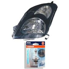 Headlight Right Suzuki Swift Type Mz / Ez Year 02/2005–10/2010 Black H4