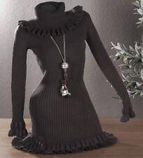 caldo sexy vestito Stivali arrotolabile pullover lungo di MAGLIA CASHMERE L XL