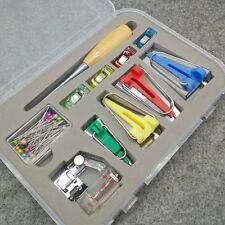 60pcs Fabric Bias Binding Tape Maker Kit Binder Foot For Sewing & Quilting +AWL