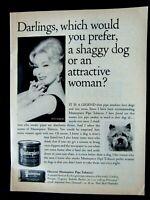 "Eva Gabor-Shaggy Dog-1965 Masterpiece Tobacco Original Print Ad 8.5 x 11"""