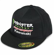 Pro Circuit Monster Energy Kawasaki MX cap con motocross L/XL Flexfit negro