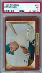 1955 Bowman # 65 Don Zimmer Dodgers @@ VG PSA 3