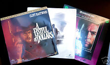 Lot Clint Eastwood 3 New Laserdisc Movies Fist Full of Dollars, Sudden Impact