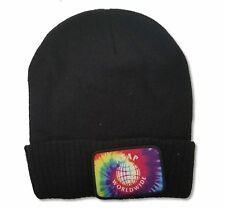 ASAP Worldwide Tie Dye Patch Black Beanie Hat New Official Rap Hip Hop A$AP Mob
