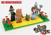 LEGO YELLOW BRICK ROAD WIZARD OF OZ MINIFIGURE DISPLAY BASE - MADE OF REAL LEGO
