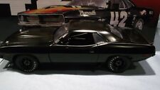 1970 Plymouth Barracuda Matte Black Street Version Acme Trans-Am Race Car Gmp