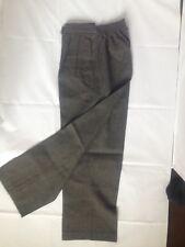 Boys Children Half Elastic Pullup Back2School Uniform Long Trouser Grey  7-8 yr