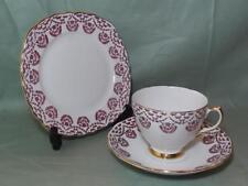 Vintage Royal Vale Bone China Trio Tea Cup Saucer Side Plate Pink Floral No.7221